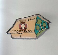 RARE PINS PIN'S .. ONG SCOUT SCOUTISME TENTE CAMP CAMPING LEQUESNOY 59 ~A9