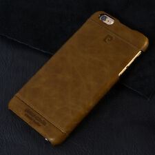 BROWN Genuine Leather Phone Case Cover For Apple iPhone 6 Plus PIERRE CARDIN
