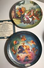 Lot Of 4 Winnie The Pooh Collector Plates Tigger Eeyore Piglet Disney