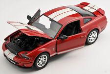Spedizione LAMPO FORD SHELBY COBRA GT 500 2007 ROSSO 1:24 Welly Modello Auto Nuovo OVP