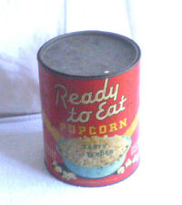 VINTAGE READY TO EAT POPCORN TIN 2 GALLON SIZE GREAT GRAPHICS