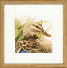 Mother Duck (Aida) :  Lanarte Counted Cross Stitch Kit - PN0146974