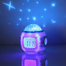 LED Music Starry Projection Digital Alarm Clock Thermometer Calendar