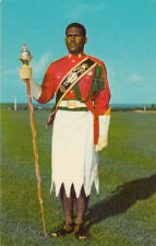 POST CARD ILES FIDJI FIJI DRUM MAJOR EPELI RAYAWA