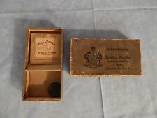 "Antique 2 Hamilton Watch Mainsprings, 0.5"" round tin box both in Original box"