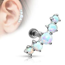 Tragus Helix Cartilage Ohr Piercing Synthetic Opal Ohrstecker Knorpel Stecker