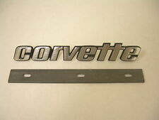 1976-1979 Corvette Rear Emblem CORVETTE with Mounting Bracket Made in the USA
