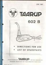 Taarup Forage Harvester 602B Operators Manual with Parts List - 602 B