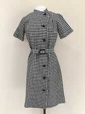 Vintage Dress,1960's Dress,Houndstooth Dress,Sweater Dress,Work Dress,Size Large