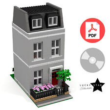 Lego Modular PDF Instructions - Grey Georgian Townhouse - London Terraced House