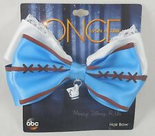 New Disney Once Upon A Time Belle W/Chip Charm Cosplay Hair Bow Pin Clip Barette