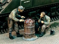 "Verlinden 1/35 ""Warming Up"" US Tankers w/Improvised Drum Stove Brazier WWII 1105"