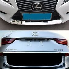 2pcs steel front bumper and rear truck bottom trims for LEXUS IS200t IS250 IS300