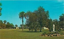 PORT CHARLOTTE FL BEAUTIFUL GROUNDS WITH ST JOSEPH'S HOSPITAL POSTCARD c1960s