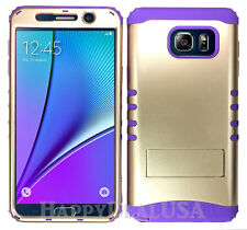 KoolKase Hybrid Silicone Cover Case for Samsung Galaxy Note 5 - Champagne Gold