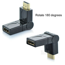 New HDMI 1.4 HDMI Male to HDMI Female 90 180 360° Rotating Adapter Connector