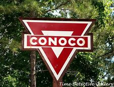 Vintage Conoco Gas Station Sign in East Texas - Giclee Photo Print