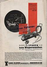 Kompressor, Prospekt 1937, Karl Klemm Spezialmaschinen-Fabrik Auto-Hebebühnen