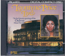 LEONTYNE PRICE LIVE!  CD NUOVO SIGILLATO 1985  PRO ARTE