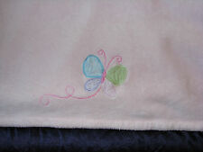 CARTERS BABY GIRL PINK PLUSH FLEECE BLANKET BUTTERFLY GREEN BLUE PURPLE