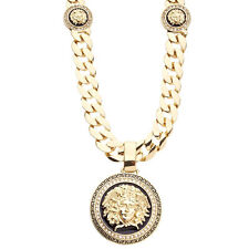 Hip Hop Bling CUBAN CUBAN Panzerkette - MEDUSA LUX 15mm gold