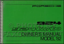 NOS 1982 Porsche 924 and Turbo Owners Manual OEM Original Owner User Guide Book