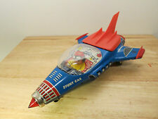 1960s UNIVERSE STUNT CAR - Vintage Tin Astronaut Space Rocket Toy - BOXED
