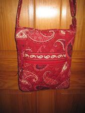 Vera Bradley Mesa Red Hipster Bag Handbag Crossbody Tortoise Shell Retired Rare