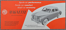 BMC MG Magnette 1958 single page NA brochure - HAC-5308C - Red