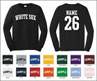 White Sox Custom Personalized Name & Number Long Sleeve Jersey T-shirt