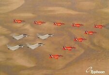 A4 PRINT RED ARROWS + EUROFIGHTER TYPHOON, ROYAL AIR FORCE, RAF