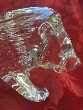 """FLAWLESS  Exceptional BACCARAT Crystal 11"""" LION Mane Roar TIGER PANTHER Figurine"""