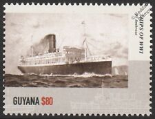 SS/HMS AMBROSE Liner / Armed Merchant Cruiser WWI & WWII Warship Stamp