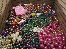 Mardi Gras Beads Necklaces 15 + pounds Large Flat Rate Box Full