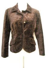 Nanette Lepore Velvet Textured Cropped Blazer or Jacket Burgundy 6