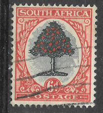 6d south africa postage - red - see scan