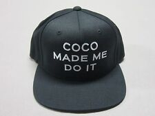 SSUR THE CUT UNISEX BLACK WOOL BLEND SNAPBACK HAT COCO MADE ME DO IT OSFA NEW