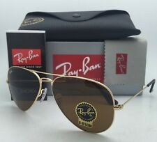 New RAY-BAN Sunglasses RB 3025 001/33 62-14 Gold Aviator Frame w/ B15 Brown Lens