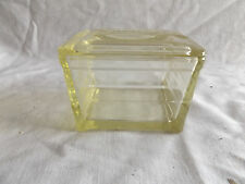 Vintage Glasbake Food Storage  Refrigerator Dish with Lid Yellow  Glass