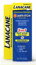 2 Pack - Lanacane Maximum Strength Anti-Itch Medication Cream 1oz Each