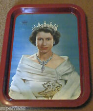 1953 Queen Elizabeth II coronation color lithography serving tray Karsh photo