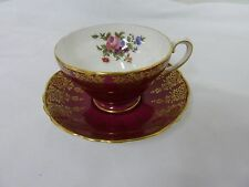 STAFFORDSHIRE Fine Bone China Beautiful Tea Cup and Saucer Set Made In England