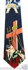 Jesus Son God Crucifixion Mens Necktie Religious Easter Christian Gift Tie New