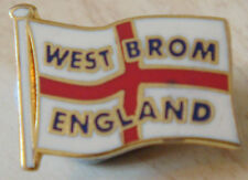 WEST BROMWICH ALBION & ENGLAND Club crest badge Brooch pin In gilt 19mm x 15mm