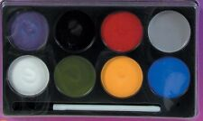 Halloween Makeup Face Paint Assortment Variety Pack Pallet Palette Multi-Color