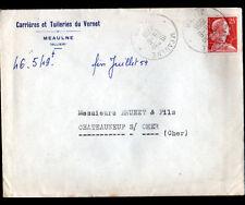 MEAULNE (03) CARRIERES & TUILERIE du VERNET / TUILES , Voyagée en 1959