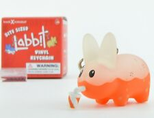 Frank Kozik Bite Sized Labbit Vinyl Key Chain - Orange Soda