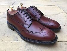 Church's Brookland Wing Tip Brogue Brown Leather Shoes G Fitting UK 8.5 F BNIB