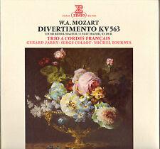"""TRIO A CORDES FRANCAIS, MOZART """"DIVERTIMENTO KV 563"""" LP ERATO 71261"""