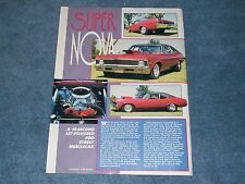 "1969 Chevy Nova Pro Street Drag Car Article ""Super Nova"""